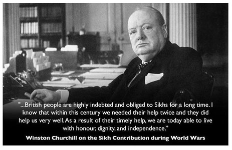 Winston Churchill Sikh quote